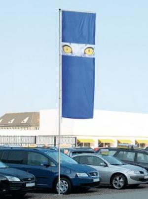 A teleszkópos zászlórúd sokféleképpen alkalmazható