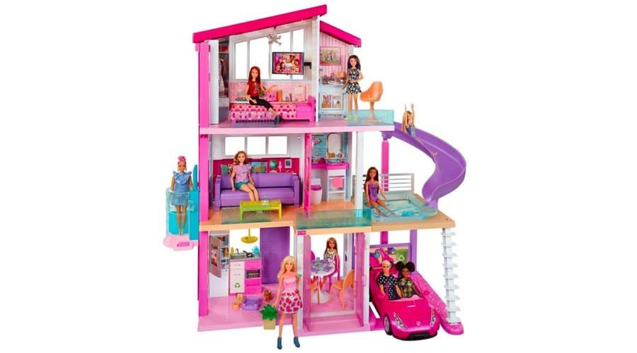 Háromszintes, medencés Barbie babaház